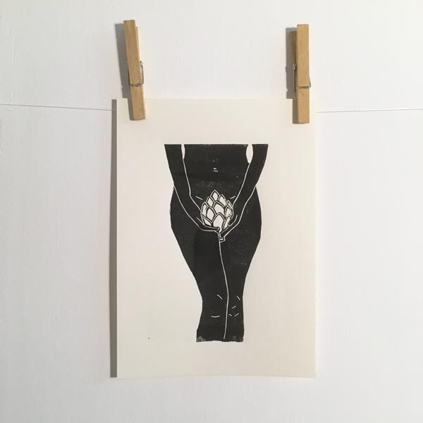 artichoke girl black