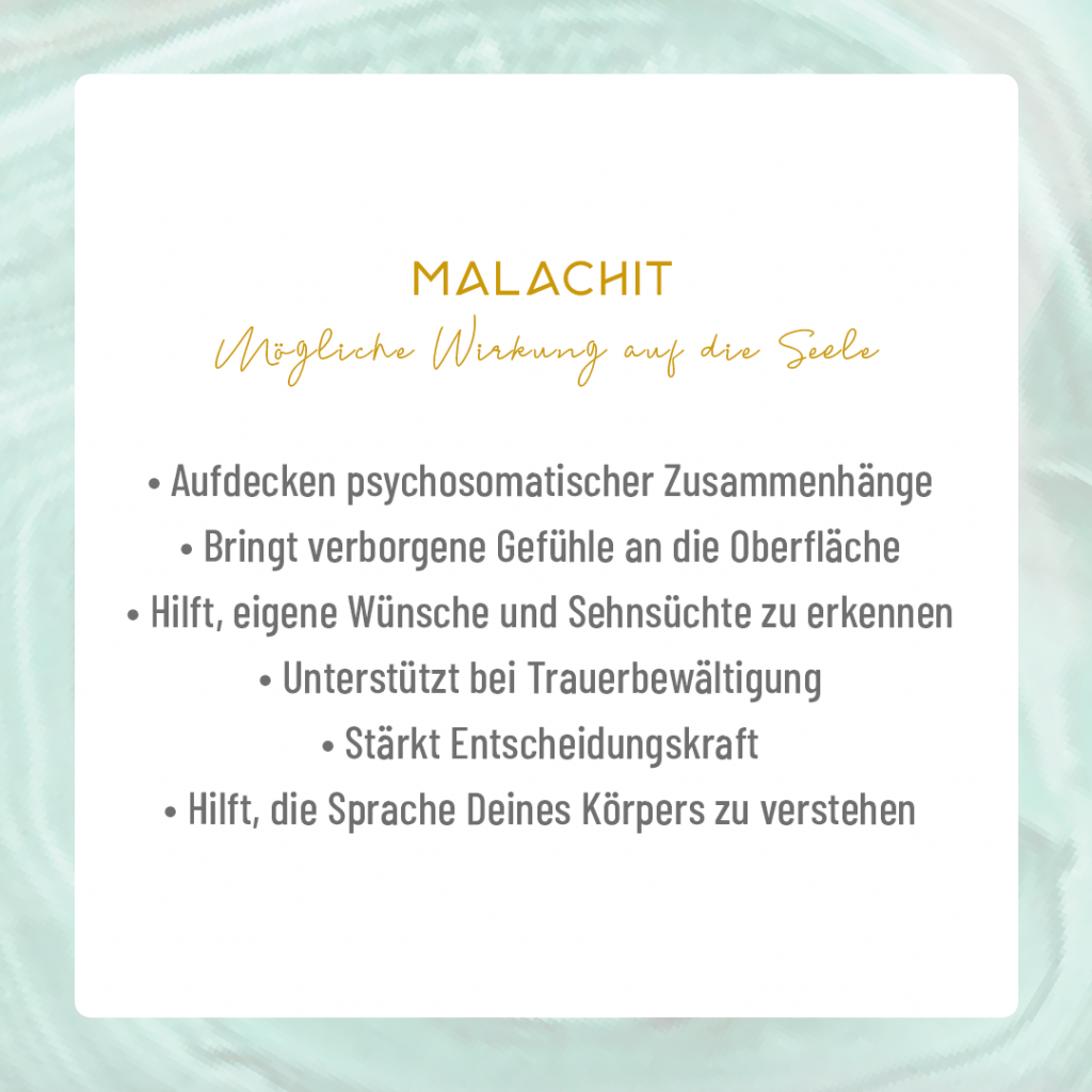 Youniverses.de Moonay Malachit – Edelstein für Frauen. Edelsteinarmband. Malachitarmband.