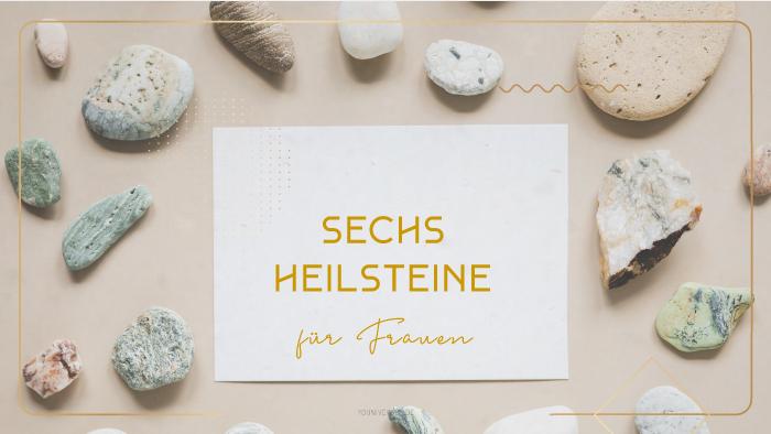 Youniverses_sechs-Heilsteine-für-Frauen. Amazonit, Granat, Malachit, Rosenquartz, Mondstein, Karneol. Heilstein. Hebammenstein.